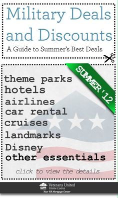 Your complete guide to hundreds of military discounts and deals: from hotels to airfare to admission prices to food!