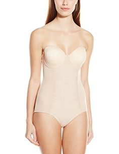 c34d118708 Heavenly Shapewear Women s Molded Cup Mesh Bodysuit