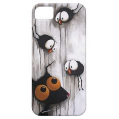 The cat and the crows iPhone 5/5S cover