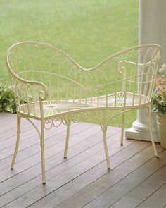 I LOVE A Conversation Bench     I Just Bought A Similar One At A · Love  ChairOutdoor ...