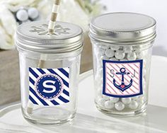 Mason Jar Wedding Favors! Discover the absolute best mason jar themed party and wedding favors. Some includes straws and lids, others are mugs, and there are shot glasses as well.