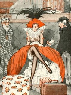 Illustration by Julien Jacques LeClerc For La Vie Parisienne 1920s