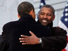 2008 inauguration with denzel washington