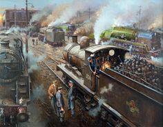 cz Fine Art Prints of Railway Scenes & Train Portraits - Rush Hour Train Posters, Railway Posters, Holland, Old Steam Train, Railroad History, Train Truck, Steam Railway, Train Art, Train Pictures