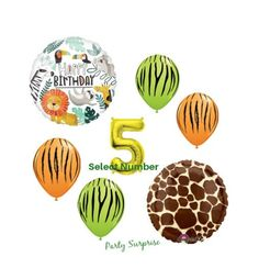 Gold Number Balloons, Confetti Balloons, Safari Party Decorations, Wedding Confetti, Giraffe Print, Balloon Arch, Birthday Balloons, Madness, Tanks