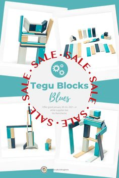 Take home a set of Tegu 24 Piece - Tegu Blocks, Blues during our Winter Blues Sale, and shake off the winter blues! The Tegu Blocks, Blues Set is an intermediate building set that allows for inventive and tall creations. Stimulating your child's open-ended and unscripted play is effortless with beautiful and safe building sets from Tegu toys. Shop now and save 35% off, including FREE Shipping! Use code: TEGUBLU35 at checkout. 24 Blocks, Wooden Blocks, Blocks For Toddlers, Block Play, Interactive Toys, Toys Shop, Toddler Toys, Quality Time, Your Child