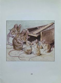1950's Vintage 'The Tale Of Two Bad Mice' | Etsy Postcard Printing, Beatrix Potter, Wild Birds, All Print, Mice, Vintage Prints, 1950s, The Originals, Artwork