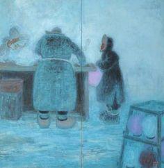 赤羽末吉《満洲の冬の街頭物売り》1950年代 ちひろ美術館