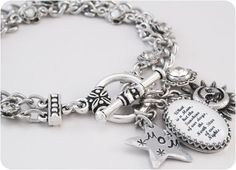 Mother's Charm Bracelet Mother's Quote by BlackberryDesigns, $48.00