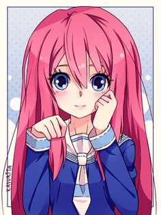 I know this dosent look like gaming but it is . Her name is LDSHADOWLADY and shes a youtuber who plays minecraft and other games this is a anime version of her . and yes she has pink hair