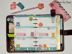 The week nr. 46 - owls and mint hearts #planner