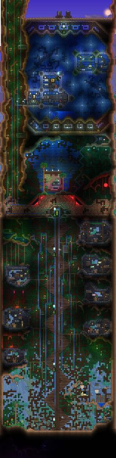 Terraria i wonder how long it will take to build this thing i love it! Terraria House Design, Terraria House Ideas, Terraria Tips, Minecraft Wallpaper, Winter Is Here, Sandbox, Fun Games, Cosmos, Terraria Castle