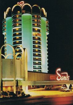 Vintage Las Vegas Photo ~ The Sands Hotel and Casino in all it's mid-century glory! Las Vegas Trip, Vegas Casino, Casino Night Party, Casino Theme Parties, Vintage Hotels, Vintage Travel, Neon Licht, Techno, Casino Royale Theme