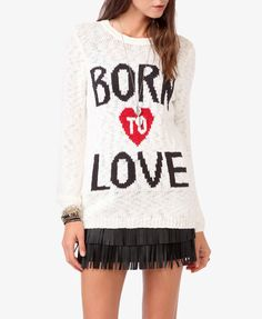 Born To Love Sweater | FOREVER21 - 2019237445