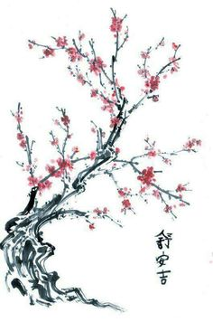 Ideas cherry blossom tree tattoo meaning style for 2019 Cherry Blossom Art, Pink Blossom, Chinese Blossom, Japanese Blossom, Blossom Tree Tattoo, Blossom Trees, Tatouage Delta, Tatto Floral, Japanese Cherry Tree