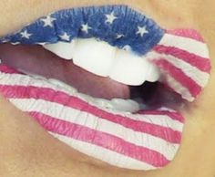 Now THIS is 4th Of July Makeup...American Flag lips... Glitter Lipstick, Red Lipsticks, Glitter Gif, Lipstick Dupes, Eyeshadow, Day Makeup, Beauty Makeup, Makeup Ideas, Makeup 2016