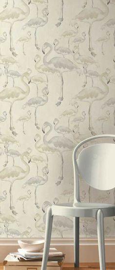 Flamingo Beach Daybreak Designer Wallpaper