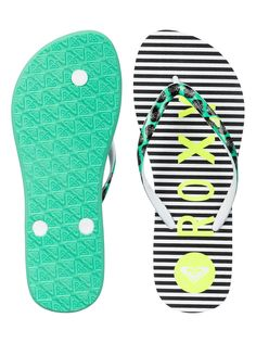 roxy, , BLACK STRIPE (bsp). Black StripesFlip FlopsRoxyFlippingBeach Sandals