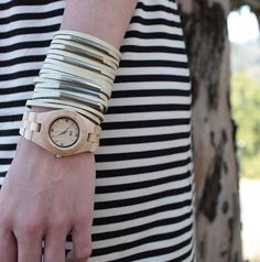 Loving these eco-friendly wooden watches from WeWood.