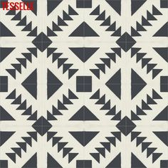 230 tiles (100 SF) in stock. Spatial Contrasscement tilescreate astark geometric pattern across your surface in classic black and…