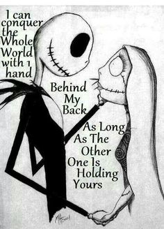 JACK & SALLY ♥ With one hand behind my back...but you let mine go.