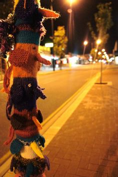 Yarn Bombing/guerrilla knitting. Perth, Australia.
