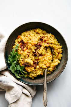 Easy Kitchari (Spiced Dal with Rice) - vegan recipe
