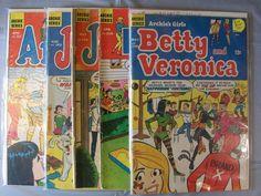 Lot of 5 Archie's Comics Girls Pep Jughead Betty Veronica Archie Series 1968-71