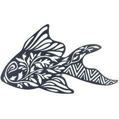 Fish Laser Cut Metal Wall Art 63cm