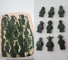 DIY silicone mold to make lego chocolate men. Fantastic!
