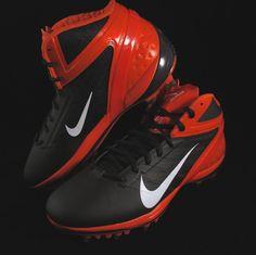 Nike Alpha Talon Elite TD Football Cleats Mens Size 9.5 Dark Brown/Orange #Nike