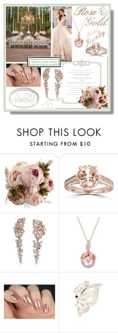 """""""Bridal Jewelry"""" by sherrifitzgerald ❤ liked on Polyvore featuring David Tutera, Bliss Diamond, Bling Jewelry, WALL, Kim Rogers and Vintage Playing Cards"""