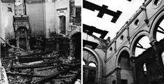 Sinagoga di via Guastalla a Milano devastata dai bombardamenti.