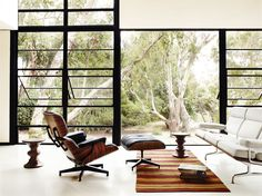 Eames Lounge and Ottoman looking fantastic with an Eames Sofa.