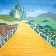 Wizard of Oz Backdrops props - prophire - Books - Wizard Of Oz Play, Wizard Of Oz Decor, Theme Halloween, Halloween Ideas, Stage, Land Of Oz, Pop Culture References, Yellow Brick Road, Camping Theme