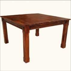 Square #DiningTable Counter Height Solid Wood #RusticFurniture #interiors #contemporyfurniture #homedecor #furniture #homeinspiration   http://www.sierralivingconcepts.com/