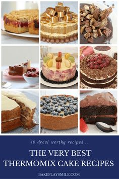 The Very Best Thermomix Cakes 10 of the best Thermomix cakes you will ever try! Simple… and totally delicious! From chocolate to raspberry to lemon… there's a cake to suit everyone! #thermomix #cakes #best #recipes