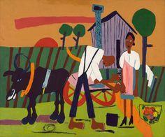 Farm Couple at Work ca. 1942-1944 William H. Johnson