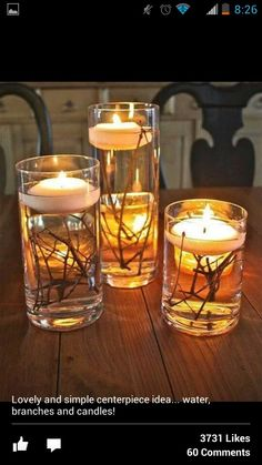 Cute candle holder idea
