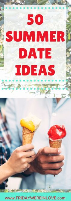 Looking for a great summer date night? Here are 50 summer date ideas that are tried-and-true favorites perfect for some summer lovin'. 50 Summer date ideas | non-cheesy date ideas that you'll both enjoy | seasonal date ideas | fun dates that are perfect for the summer months