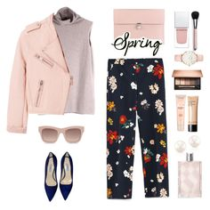 """From winter to spring .."" by gul07 ❤ liked on Polyvore featuring Zara, The Row, Prada, Alexander McQueen, STELLA McCARTNEY, Maybelline, Bobbi Brown Cosmetics, Clarins, Givenchy and CLUSE"