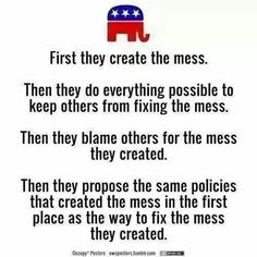 Here's the Republican party since Barack Obama has been president, and they CLAIM THEY AREN'T RACISTS!!