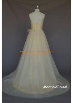 Herz-ausschnitt Elegant scchön Brautkleid A-Linie 2013 aus Softnetz