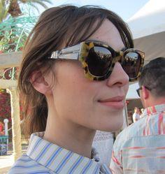 69ba476b24 Alexa Chung s Karen Walker sunglasses are sculpted 1950s-inspired tortoise  perfection.  Coachella Alexa