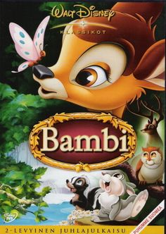 Bambi is a 1942 American animated drama film directed by David Hand (supervising a team of sequence directors), produced by Walt Disney and based on the book. Bambi Disney, Dvd Disney, Old Disney Movies, Great Kids Movies, Kid Movies, Disney Viejo, Bd Collection, Animated Cartoon Movies, Disney Films