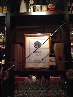 Bar de Ollaria Ginza got Guinness World Record on 10 Dec. 2013.
