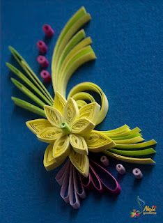 Neli quilling art quilling card purple flowers - 1000 Images About Quilling Quadros Flores 1 On Pinterest