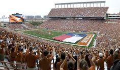 The University of Texas at Austin  The Texas Flag: UT & Ole Miss history    The original flag was given to Texas governor Price Daniel by Mississippi governor Ross Barnett during the halftime show of the 1962 Cotton Bowl (after which Texas beat Ole Miss 12-7).