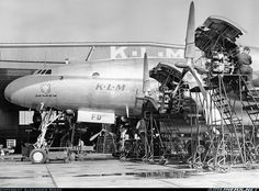 Lockheed L-749 Constellation - KLM PH-TFD (cn 2640) Taken  early 1950's at Schipol