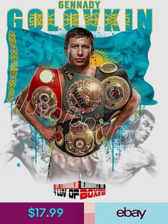 Posters Sports Mem, Cards & Fan Shop Triple G, Boxing Images, Gennady Golovkin, Boxing Posters, Boxing History, Cowboy Up, Sports Stars, Family Traditions, My Dad
